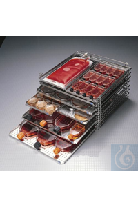 Bel-Art Stak-A-Tray System; Rack Frame with two center supports, 1.96 in....