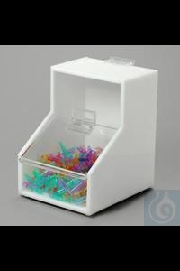 BIN,ACRYLIC,STORAGE,SMALL18669-0001 Bel-Art Acrylic Small Storage Bin; 5 x 6...