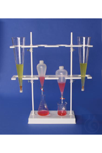 IMHOFF CONE AND SEPARATORY FUNNEL RACK18967-0000 Bel-Art Polyethylene Imhoff...