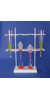 Bel-Art Polyethylene Imhoff Cone and Separatory Funnel Rack; 8.5 x 26 x 29...