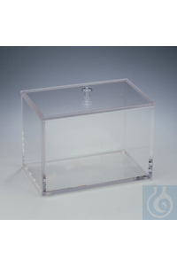 BOX,ACRYLIC,BETA,WITH/LID24983-0000 Bel-Art Beta Box; Acrylic, 10 x 6 x 7 in.