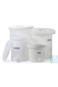 POLLY-CROCK,PE,WITH/LID,3GALLON35103-0000 Bel-Art Polly-Crock Polyethylene...