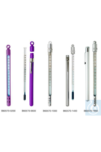 H-B Enviro-Safe Liquid-In-Glass Pocket Thermometer; -10 to 110C, Window...