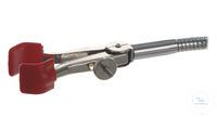 Stativklemme flex. Schaft, vernickelt, Spannweite 15-65mm Stativklemme flexibler Schaft,...