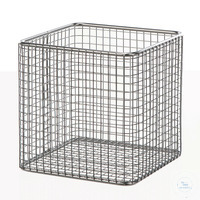 Wire basket 18/10 E-Poli, 100x100x100mm Wire basket 18/10 steel electrolytical polished, anti...