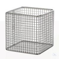 Drahtkorb 18/10 E-Poli, 160x160x160mm Drahtkorb 18/10 Stahl elektrolytisch poliert,...