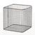 Drahtkorb 18/10 E-Poli, 100x100x100mm Drahtkorb 18/10 Stahl elektrolytisch poliert,...