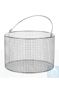 Wire basket 18/10 E-Poli, round, w., handle, D=240mm, H=180mm Wire basket 18/10 steel...