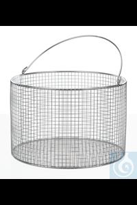 Drahtkorb 18/10 E-Poli, rund, m., Henkel, D=150mm, H=120mm Drahtkorb 18/10 Stahl elektrolytisch...