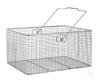 Wire basket 18/10 E-Poli w. handle, 400x300x200mm Wire basket 18/10 steel electrolytical...