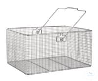 Drahtkorb 18/10 E-Poli m. Henkel, 400x300x200mm Drahtkorb 18/10 Stahl elektrolytisch poliert,...