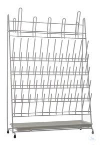 Draining rack, PVC coated, 420x160x610mm Draining rack, PVC coated, 420x160x610mm, for 65 test...