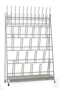 Draining rack, PVC coated, 420x160x610mm Draining rack, PVC coated, 420x160x610mm, for 44 test...
