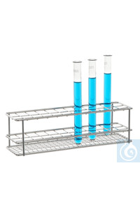 Test tube stand 18/10 steel, 10x10 test, tubes Test tube stand 18/10 steel electrolytical...