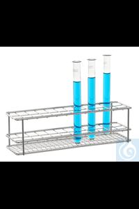 Reagenzglasgestell 18/10 Stahl, 2x6, Gläser Reagenzglasgestell 18/10 Stahl, electrolytisch...