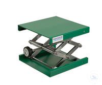 Hebebühne Alu grün, 200x200mm, Stellrad, Hub 60-275mm Hebebühne aus Aluminium, EPOXI...