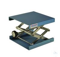 Hebebühne Alu blau, 100x100mm, Hub, 55-120mm Hebebühne, Alu, blau eloxiert, DIN12897, 100x100mm,...