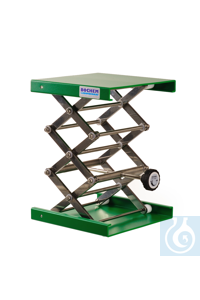 Hebebühne Alu grün MAXI, 200x200mm, Stellrad, Hub 75-400mm Hebebühne aus Aluminium MAXI (30% mehr...