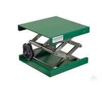 Hebebühne Alu grün, 400x400mm, Stellrad, Hub 100-470mm Hebebühne aus Aluminium, EPOXI...