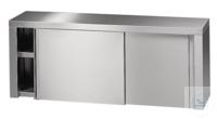 Wandschrank mit Schiebetür 18/10 Stahl, 1500x350x600mm Wandschrank mit Schiebetür 18/10 Stahl,...