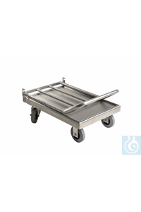 Laboratory cart 4, 18/10 steel, collapsible Laboratory cart 4, 18/10 steel, collapsible, surface...