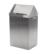 Feuerhemmender Abfallbehälter 18/10, Stahl, 400 x 300 x 740mm Feuerhemmender...
