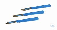 4Artikelen als: Scalpel, niet steriel, L = 150 mm, rood Scalpel voor lichte werkzaamheden,...