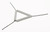 Drahtdreieck, Stahl verzinkt, m., Tonrohren, L=70mm Drahtdreieck, Stahl verzinkt, mit Tonrohren,...