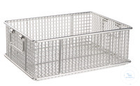 Transport basket stackable 18/10 Stahl, 600x400x300mm Transport basket stackable 18/10 steel,...