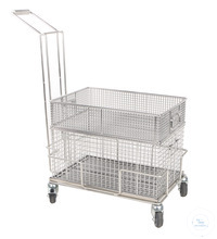 Chariot pour paniers de transport, acier, inox 18/10, 603x403x950mm Chariot pour paniers de...
