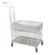 Transport cart for transport baskets, 18/10 Steel, 603x403x950mm Transport cart for transport...