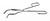 Tiegelzange 18/10 Stahl, stabiler Typ, L=200mm Tiegelzange 18/10 Stahl, elektrolytisch poliert,...