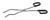 Tiegelzange 18/10 Stahl, m., Kunststoffgriff, L=200mm Tiegelzange 18/10 stahl, mit...
