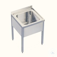 Sink table 18/10 steel w. drain 1, 5, Zoll, 500x600x660mm Sink table 18/10 steel, with drain 1,5...