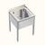 Sink table 18/10 steel w. drain 1, 5, Zoll, 500x600x660mm Sink table 18/10 steel, with drain 1,5...