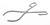 Becherzange 18/10 Stahl, L=250mm, D=55-100mm Becherzange 18/10 Stahl, elektrolytisch poliert,...