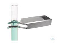 Reagenzglashalter 18/10 Stahl, L=150mm Reagenzglashalter 18/10 Stahl, L=150mm, für Gläser mit...