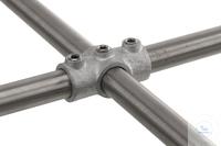 Kreuzverbinder f. 3 Rohre, Temperguss, verzinkt, d=26,9mm Kreuzverbinder KEE für 3 Einzelrohre,...