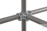 Kreuzverbinder f. 4 Rohre, Temperguss, verzinkt d=26,9mm Kreuzverbinder für 4 Einzelrohre,...