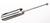 Wiegeschaufel mit Knop, 18/10 Stahl, L=220mm Wiegeschaufel mit Knop, 18/10 Stahl, L=220mm,...