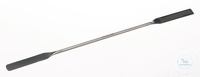 Double spatula 18/10 steel, flexible, LxW=300x22mm Double spatula 18/10 steel, flexible,...