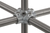 Four socket cross f. 5 tubes, malleable, cast iron, d=26,9mm Four socket cross for 5 tubes,...