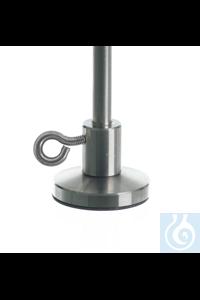 Pied de statif, acier inox 18/10, 60x12mm Pied de statif acier inox 18/10 pour tiges, 60x12mm,...