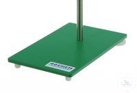Socles acier peint , vert, Filetage, M10, 180x100x6mm Socles acier peint, vert, Filetage M10,...