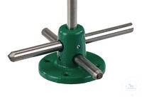 Foot for rods, malleable cast iron, D=12mm Foot for rods, malleable cast iron, D=12mm, foot d=80mm