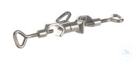 Doppelmuffe 18/10 Stahl, drehbar, d=16,5mm Doppelmuffe aus 18/10 Stahl, drehbar, d=16,5mm, Winkel...
