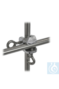 Bosshead for frames 18/10 steel, d=13,5mm, thumb screw Bosshead for frames out of 18/10 steel,...