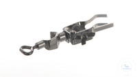 Burette clamp 18/10 steel, w. bosshead, d=0-20mm Burette clamp out of 18/10 steel, one side, with...