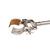 Retort clamp standard steel, zincked, d=150mm Retort clamp standard out of steel, zincked, Span...
