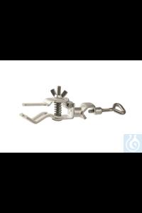 Burette clamp steel, zicked, one side, Span width 0-20mm Burette clamp steel, zincked, one side,...